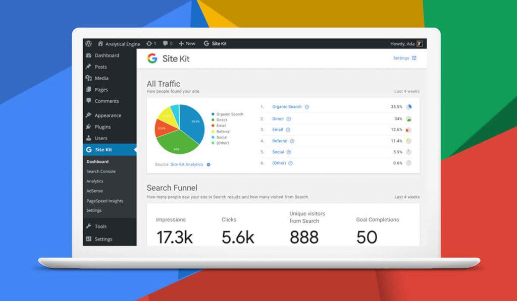 plugin Google Site Kit para WordPress