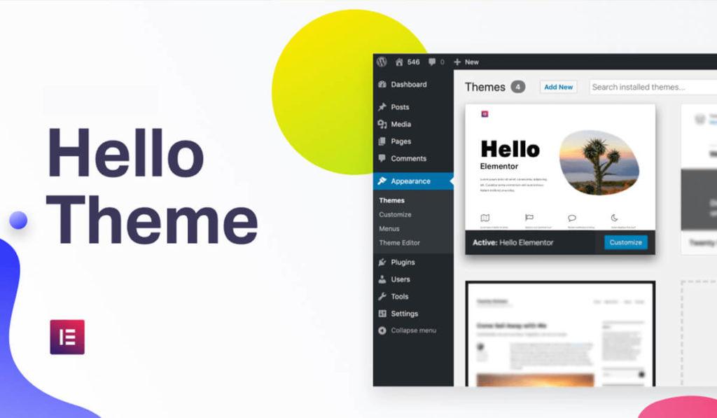 Tema Hello Theme para trabajar con Elementor Page Builder